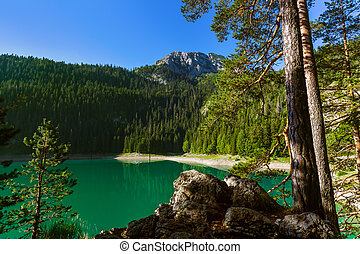 Black Lake (Crno Jezero) in Durmitor - Montenegro - nature...