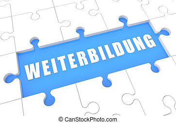 Weiterbildung - german word for further education - puzzle...