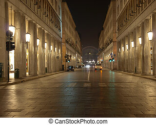 Via Roma, Turin - Via Roma, central highstreet in Turin,...