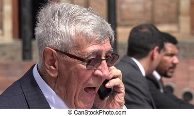Angry Boss Or Angry Ceo Yelling At Phone