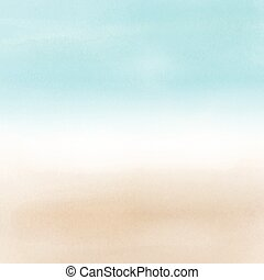 abstract beach landscape in watercolor