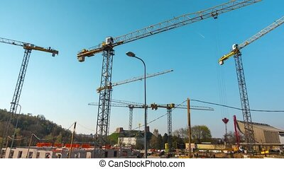 Time-lapse of construction site wor - VILNIUS, LITHUANIA -...