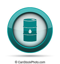 Oil barrel icon Internet button on white background