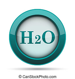 H2O icon. Internet button on white background.
