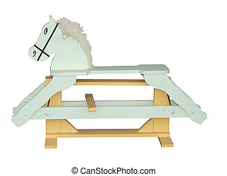 Pale Green Rocking Horse