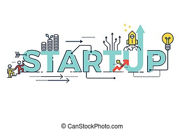 Business Startup word design - Business Startup word...