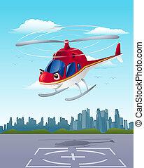 helicóptero, Partida