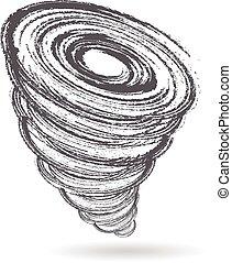 Tornado season logo. Vector graphic design