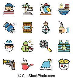 icon set pirate