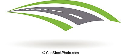Road Pavement and swales logo. Illustration graphic design