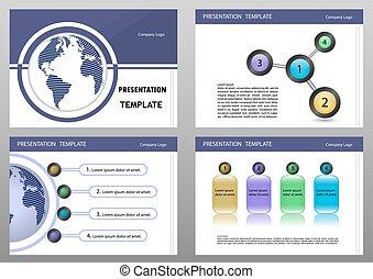 Education or business presentation template set.Presentation templates Infographic elements flat design set for brochure flyer leaflet marketing advertising
