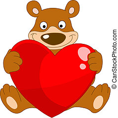 Smiley bear valentine