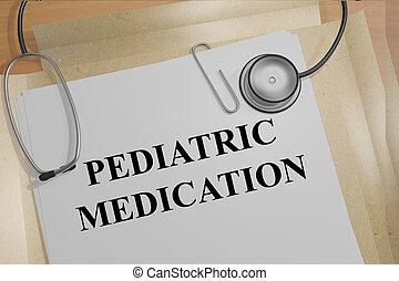Pediatric Medication medical concept