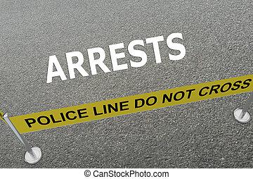 Arrests police concept