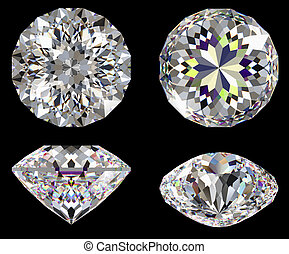 Diamond 16 star isolated brilliant