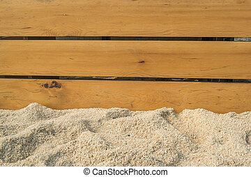 sand and wood wall texture background