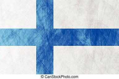 Finnish grunge flag background - Finnish grunge flag vector...