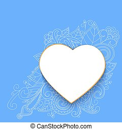 Heart with doddle pattern