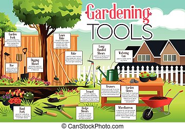 Gardening Tools - A vector illustration of gardening tools...