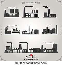 Industrial buildings, nuclear plants and factories