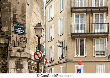 Parisian street photo of classic architecture and buildings....