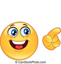 Pointing emoticon - Emoticon pointing