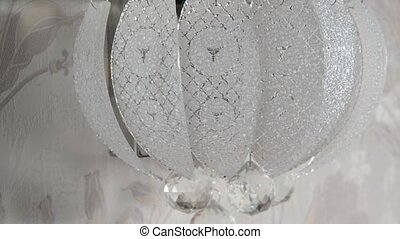 Crystal sconce on the wall in room - Crystal sconce on the...