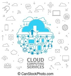 Cloud Computing Services - Consept of cloud computing...