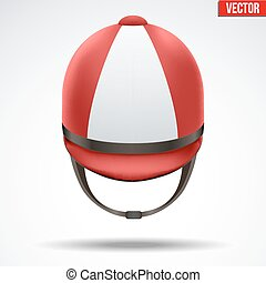Classic Jockey helmet - Classic Red Jockey helmet for...