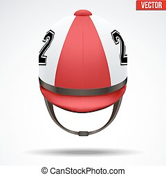 Classic Jockey helmet - Classic Red Jockey helmet with...