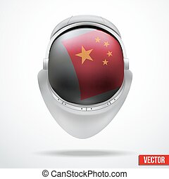 Astronaut helmet with flag China - Astronaut helmet with big...