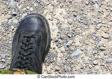 "Boots on the ground - Soldiers boot on the earth ""Nothing..."