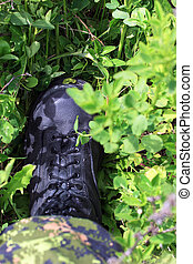 "Boots on the ground - Soldiers boot in the grass ""Nothing..."