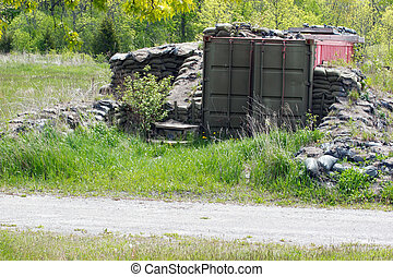 Bunker - Old abandoned Sea Container used as a storage...