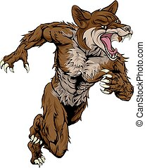 Coyote Sports Mascot - An illustration of a coyote animal...