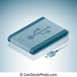 USB External Drive is a part of the Isometric 3D Computer...
