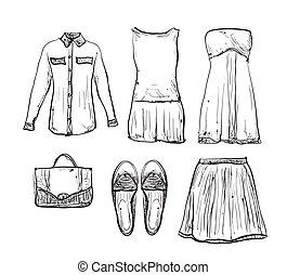 Summer doodles clothes.