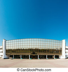 Building of Ice Palace in Gomel, Belarus. Ice Palace is...