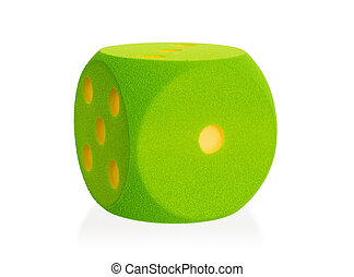 Large green foam die isolated - 1 - Large green foam die...