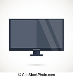 Smart TV Flat screen TV Vector - Smart TV Flat screen TV...