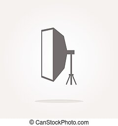 softbox Icon, softbox icon flat, softbox icon picture,...