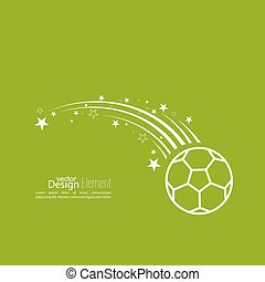 Vector icon soccer ball. - Vector icon of a soccer ball....