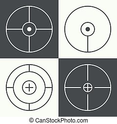 different types of crosshair - set of different types of...