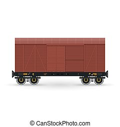 Closed Wagon Isolated on White - Closed Wagon Isolated on...