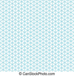 Cyan isometric grid with vertical guideline, seamless...
