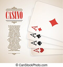 Casino logo poster background or flyer.