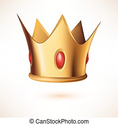 Golden Royal Crown isolated on white. - Golden Royal Crown....