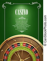 Banner with Casino Logo Badges - Casino Logo Poster...