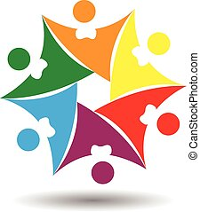Abstract People Coordination - Vector Design of Abstract...