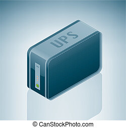 UPS Uninterruptible Power Supply is a part of the Isometric...